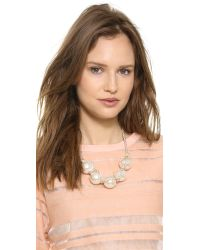 Adia Kibur - White Faux Pearl Rope Necklace Pearl - Lyst