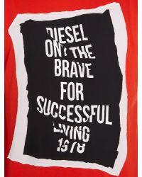 DIESEL | Red T-pasc Regular Fit Frame Graphic T-shirt for Men | Lyst
