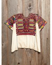 Free People - Multicolor Vintage Embroidered Tunic Top - Lyst