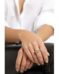 Lynn Ban - Metallic 14-Karat Gold Diamond Ring - Lyst
