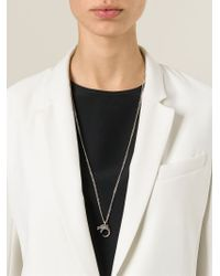 Saint Laurent | Metallic Dragon Pendant Necklace | Lyst