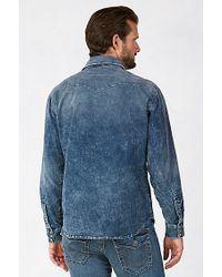True Religion | Blue Jake Mens Western Shirt for Men | Lyst