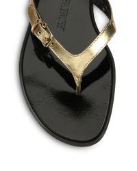 Burberry - Metallic Masie Leather Flip Flops for Men - Lyst