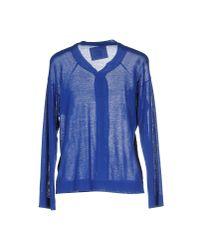 Erika Cavallini Semi Couture - Blue Cardigan - Lyst