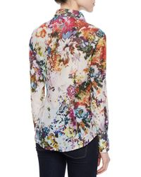 Georg Roth Los Angeles - White Long-sleeve Floral-print Blouse - Lyst