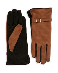Grandoe | Brown Suede Touch Gloves | Lyst
