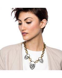 Lulu Frost - Metallic Blackheart Necklace - Lyst
