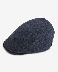 Ted Baker | Blue Textured Flat Cap for Men | Lyst