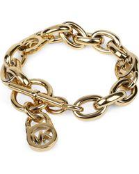Michael Kors   Metallic Logo-lock Charm Bracelet   Lyst
