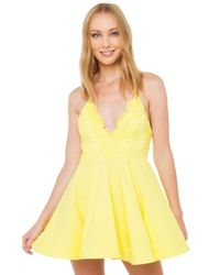 AKIRA - Yellow Way Up Dress - Lyst
