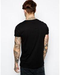 ASOS | Black T-shirt With Ram Skull Print for Men | Lyst