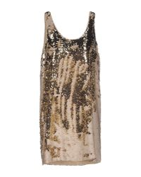 INTROPIA | Metallic Short Dress | Lyst