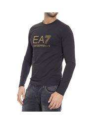 EA7 | Black T-shirt for Men | Lyst
