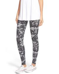 Converse | Black Print Leggings | Lyst