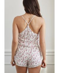 Forever 21 - Multicolor Ditsy Floral Pj Romper You've Been Added To The Waitlist - Lyst