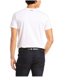 BOSS Green | White 'tee 5' | Cotton Graphic T-shirt for Men | Lyst