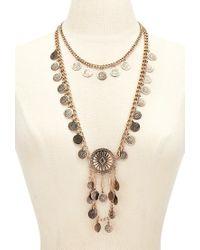 Forever 21 | Metallic Sunburst Pendant Necklace Set | Lyst
