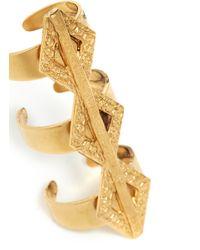 Ela Stone - Metallic Paloma Geometric Triple Banded Ring - Lyst