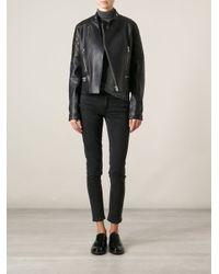 Each x Other | Black Printed Lining Biker Jacket | Lyst
