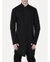 Lost & Found - Black Long Shirt for Men - Lyst