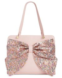 Betsey Johnson | Pink Macy's Exclusive Sequin Bow Satchel | Lyst