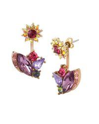 Betsey Johnson | Multicolor Fall Follies Cluster Drop Earrings | Lyst