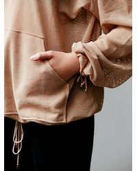 Free People | Pink Just Breathe Billowing Hoodie | Lyst