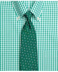Brooks Brothers | Green Tossed Flower Tie for Men | Lyst