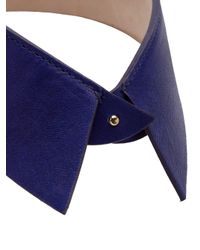 Raquel Allegra | Blue Leather Necklace | Lyst