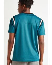Forever 21 - Blue Varsity-striped Mesh Jersey for Men - Lyst