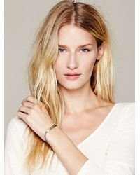 Free People - Metallic Etched Plate Bracelet - Lyst