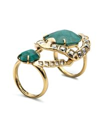 Alexis Bittar - Green Crystal Mosaic Hinged Cocktail Ring You Might Also Like - Lyst