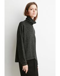 Forever 21 - Green Marled Knit Turtleneck Sweater You've Been Added To The Waitlist - Lyst