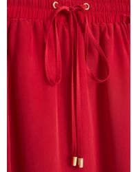 Mango | Red Flowy Long Skirt | Lyst