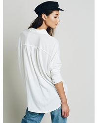 Free People - White We The Free Womens Big Easy Buttondown - Lyst