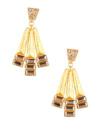 Gerard Yosca | Metallic Fanatic Drop Earrings | Lyst