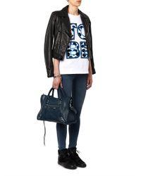 Balenciaga - Blue Classic City Edge-Line Leather Tote - Lyst