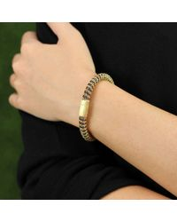 Carolina Bucci | Brown Storm Sparkle Twister Band Bracelet | Lyst