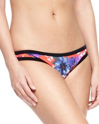 Seafolly - Blue Filed Trip Printed Hipster Swim Bottom - Lyst