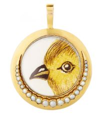 Annina Vogel | Metallic Gold Hermes Bird Locket | Lyst