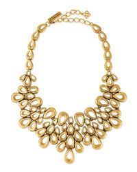 Oscar de la Renta | Metallic Gold-plated Teardrop Bib Necklace | Lyst