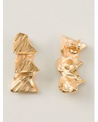 Imogen Belfield | Metallic 'Triple Star' Earrings | Lyst