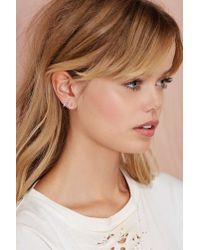 Nasty Gal - Metallic Eff Off Earrings - Lyst