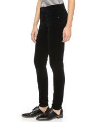 Citizens of Humanity - Black Rocket Velveteen High Rise Skinny Jeans - Lyst
