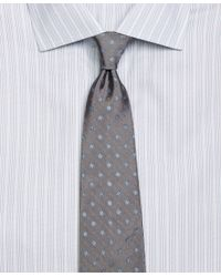 Brooks Brothers - Gray Flower And Dots Tie for Men - Lyst