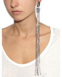 Vetements | Metallic Fringed Silver-Plated Brass Long Earrings | Lyst