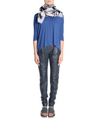 Dorothee Schumacher - Blue Spotted O-neck 3/4 - Lyst