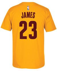 Adidas - Yellow Men's Short-sleeve Lebron James Cleveland Cavaliers Player T-shirt for Men - Lyst
