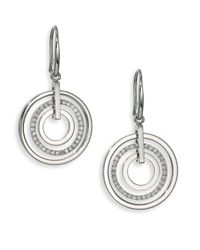 Michael Kors | Metallic Brilliance Statement Circular Pavé Drop Earrings | Lyst