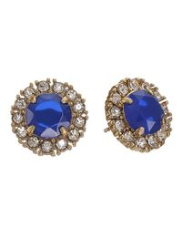 kate spade new york | Blue Secret Garden Stud Earrings | Lyst